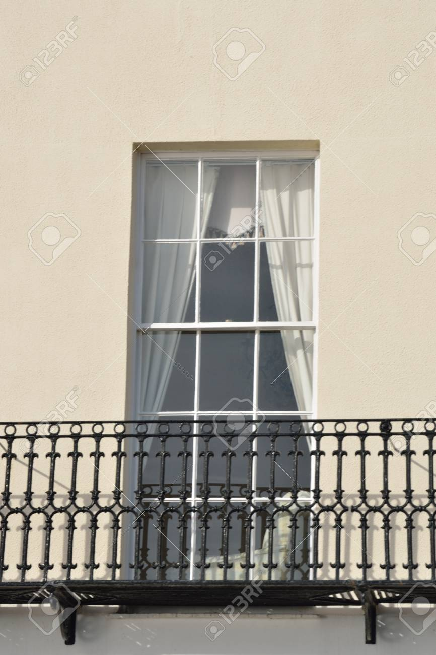 Window with iron Balcony Stock Photo - 17583346