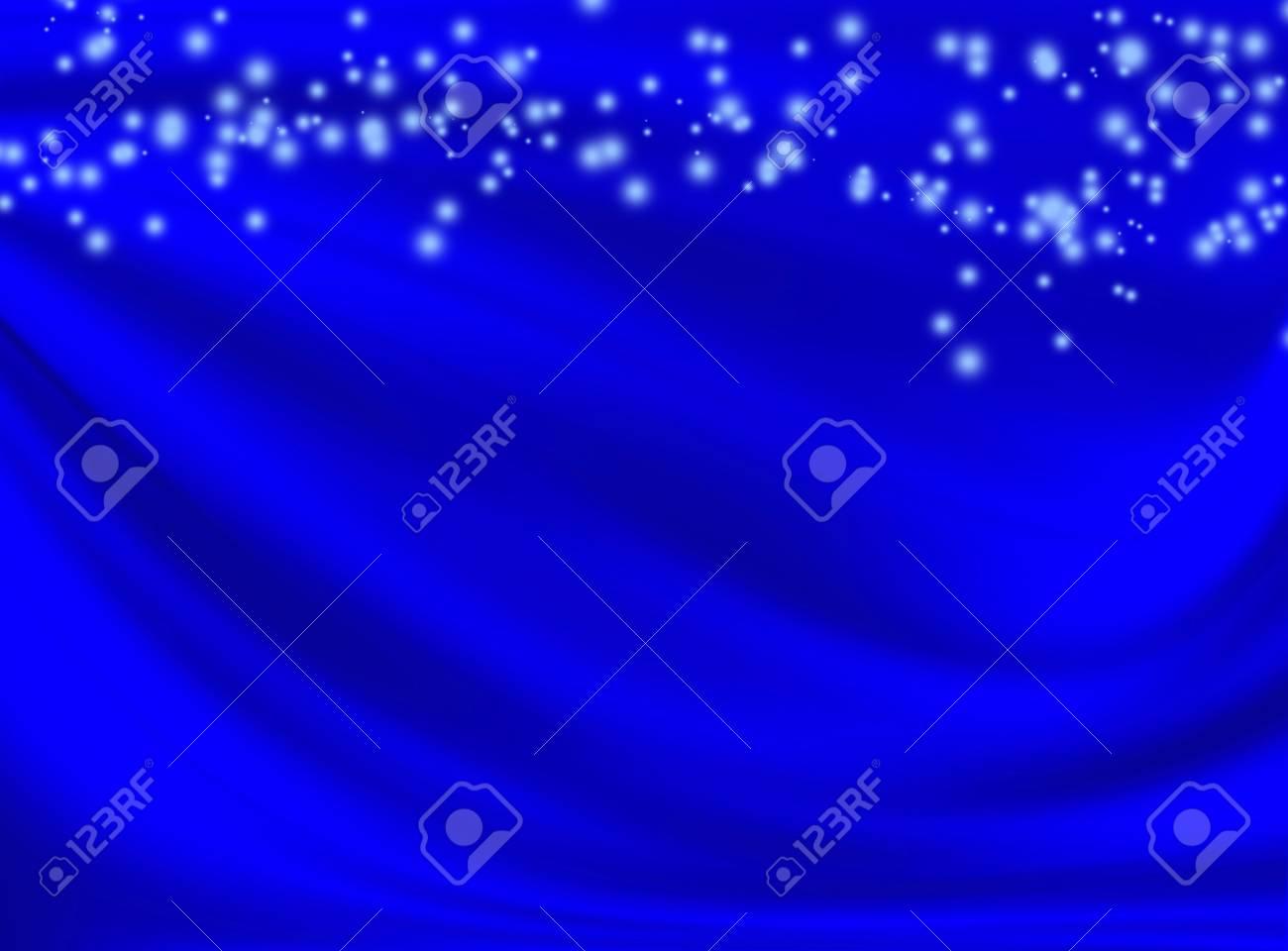 Immagini Stock Astratto Sfondo Blu Con Linee Ondulate E Spot Image
