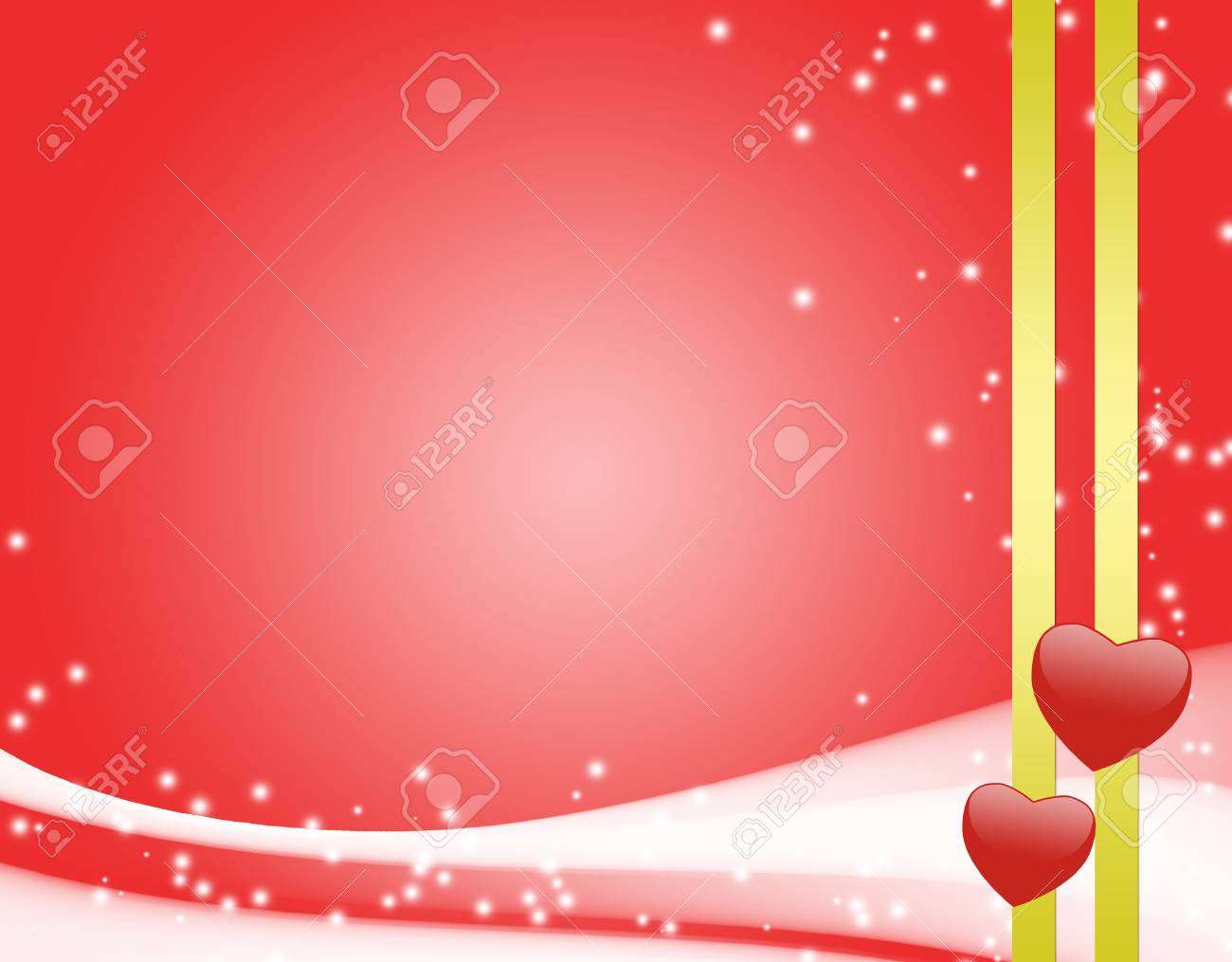 red card with hearts and ribbon Stock Photo - 8498349