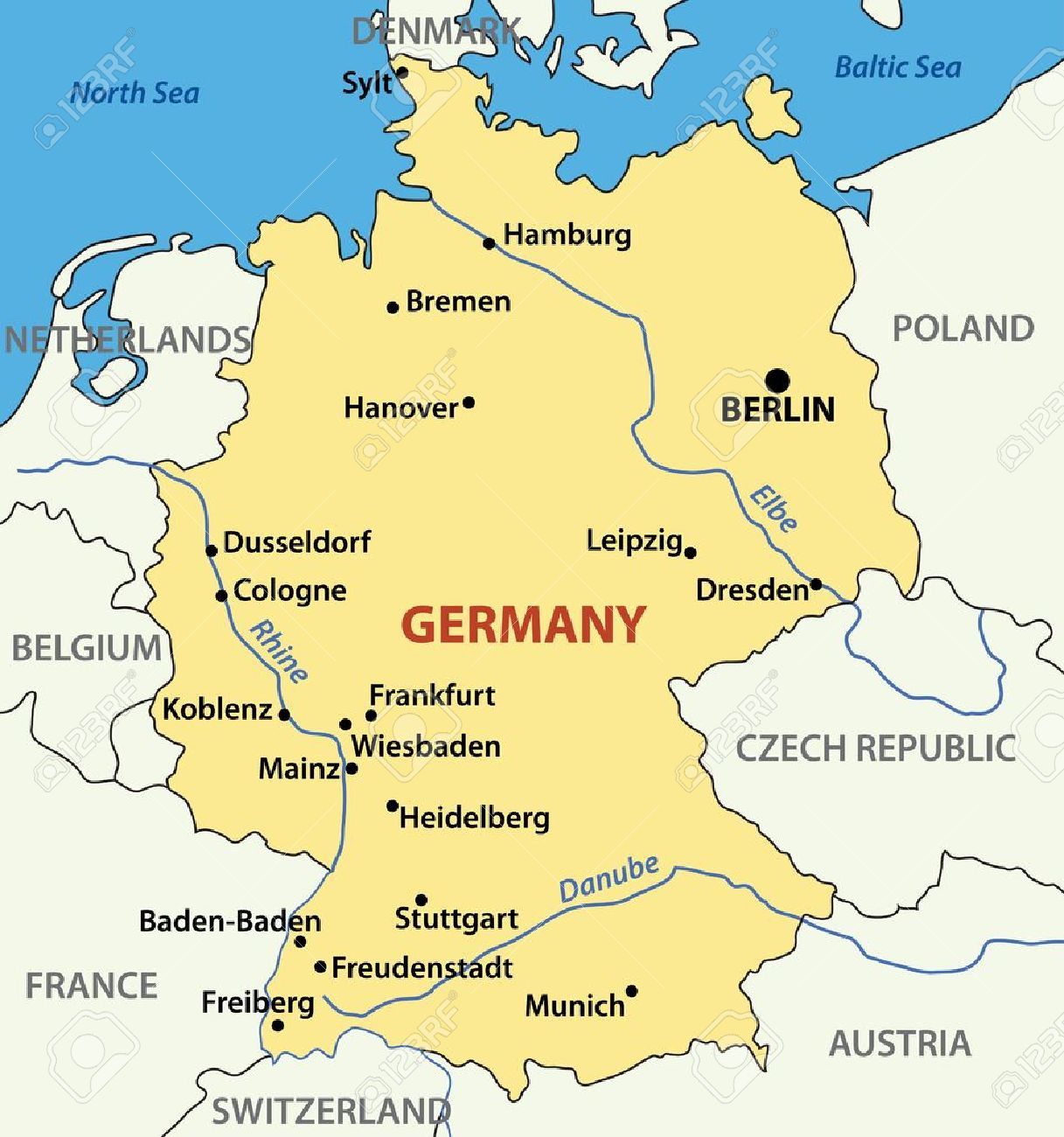 httpspreviews123rfimagespavalenapavalen – Map of German Lander