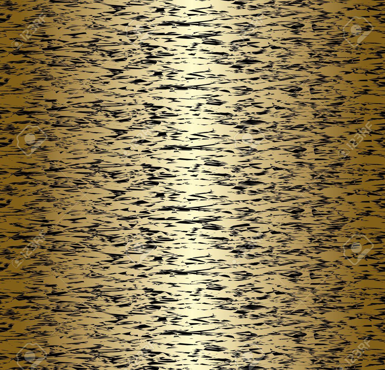 vector seamless gold and black abstract pattern with vertical gradient Stock Vector - 10099381