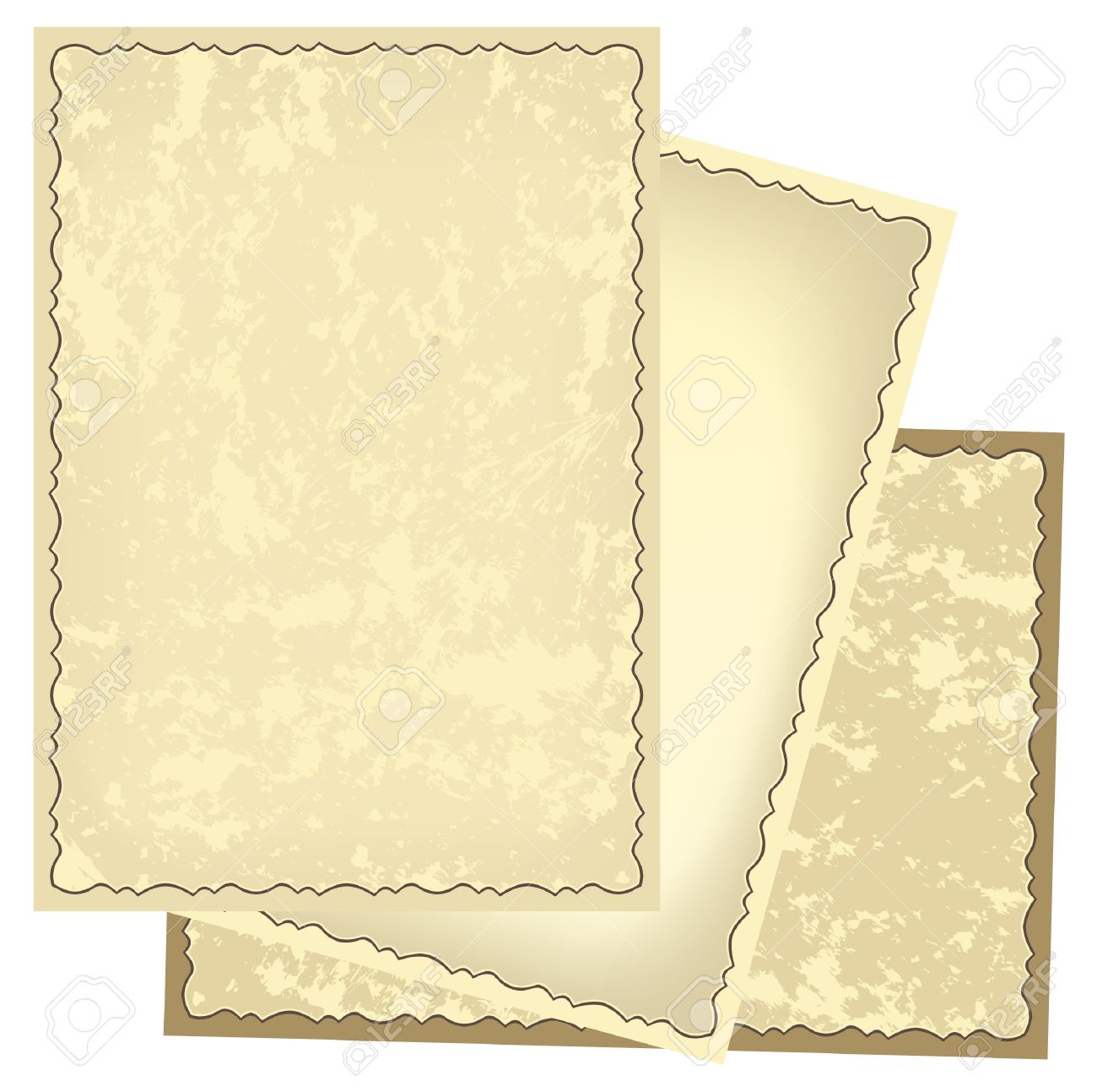 Old Retro Frames With Grungy Background - Vector Royalty Free ...