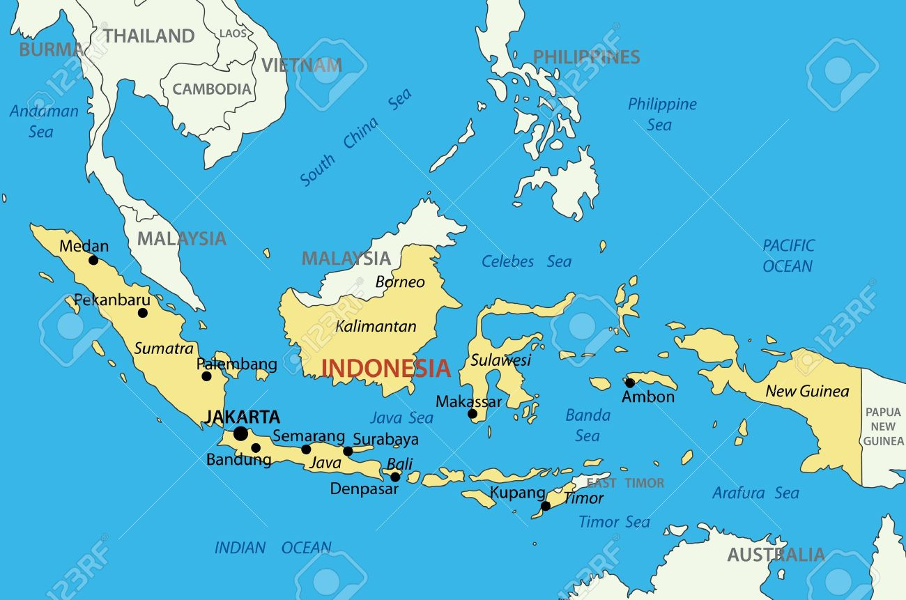 Republic Of Indonesia Vector Map Royalty Free Cliparts Vectors