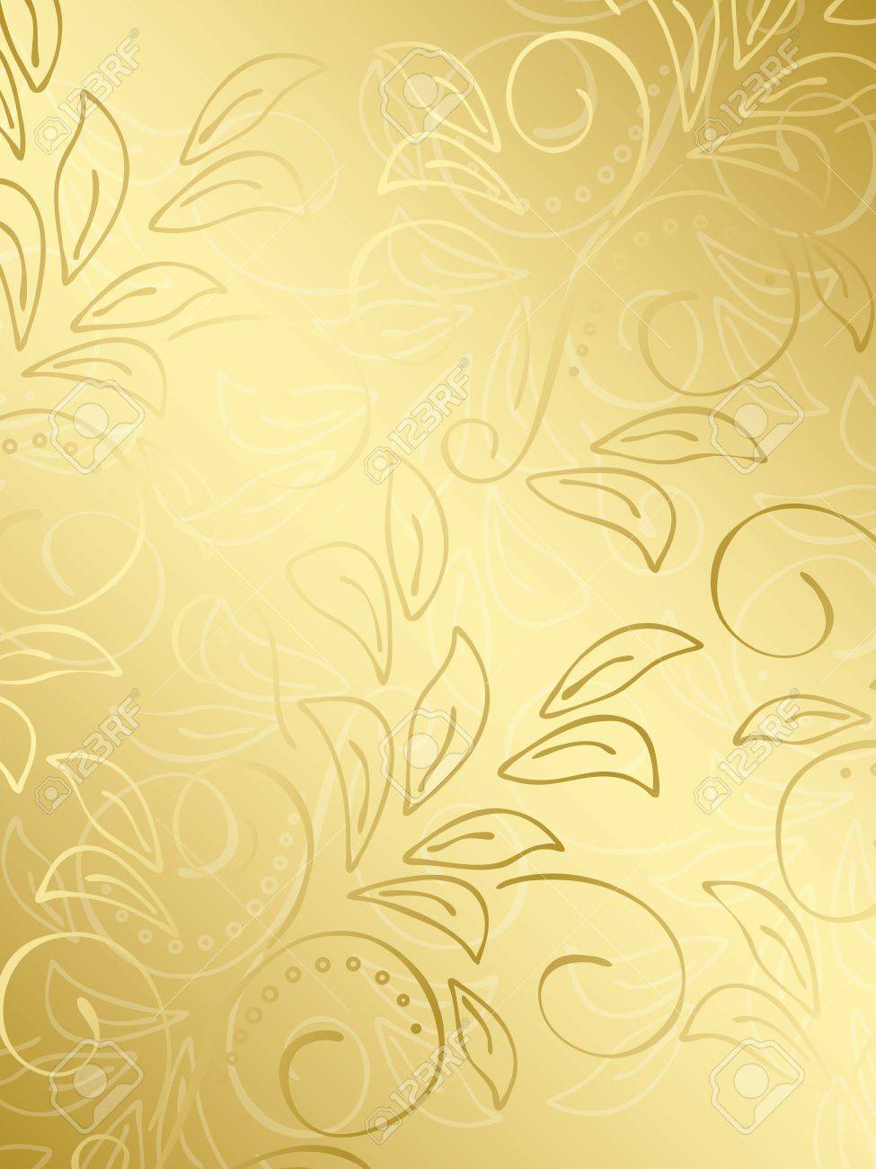 Gold Gradient Vector Vector Gold Floral
