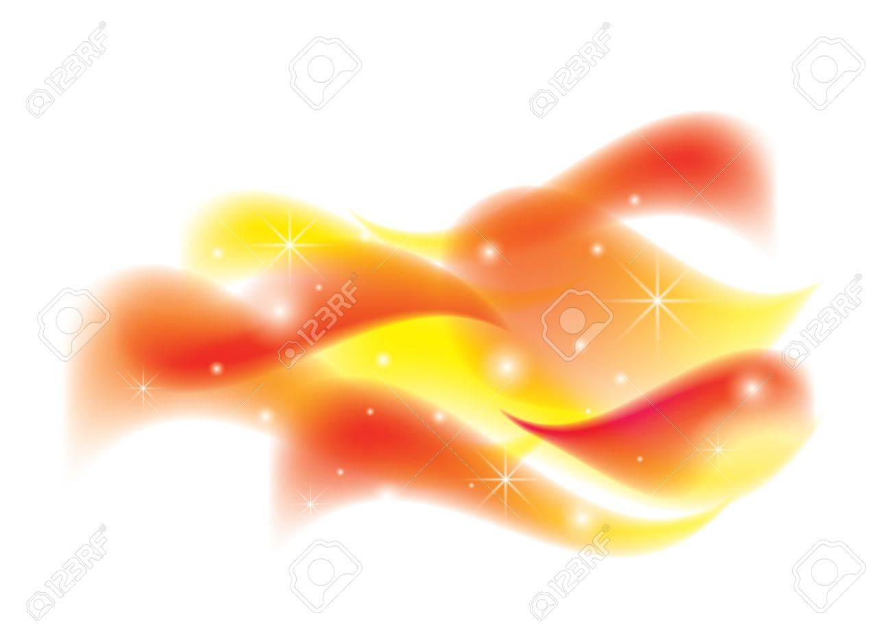 colorful waves on white background Stock Vector - 13963903