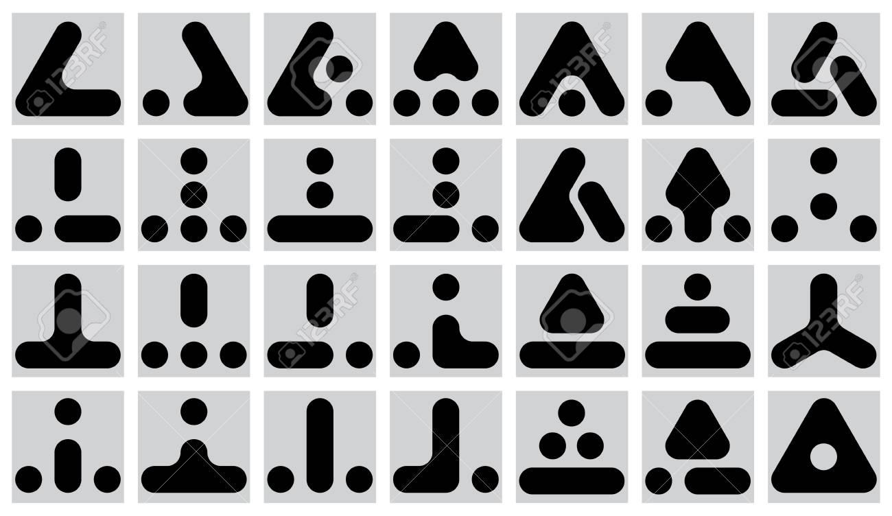 set of  geometric marks Stock Vector - 13963897