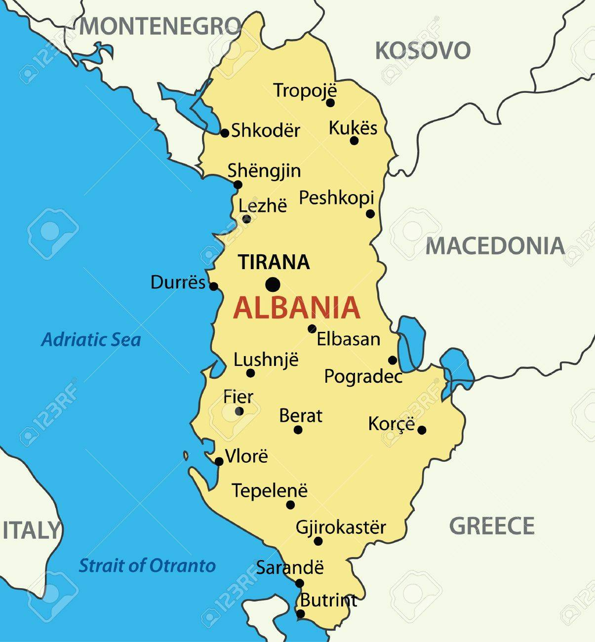 Republic of Albania - map Stock Vector - 14283431