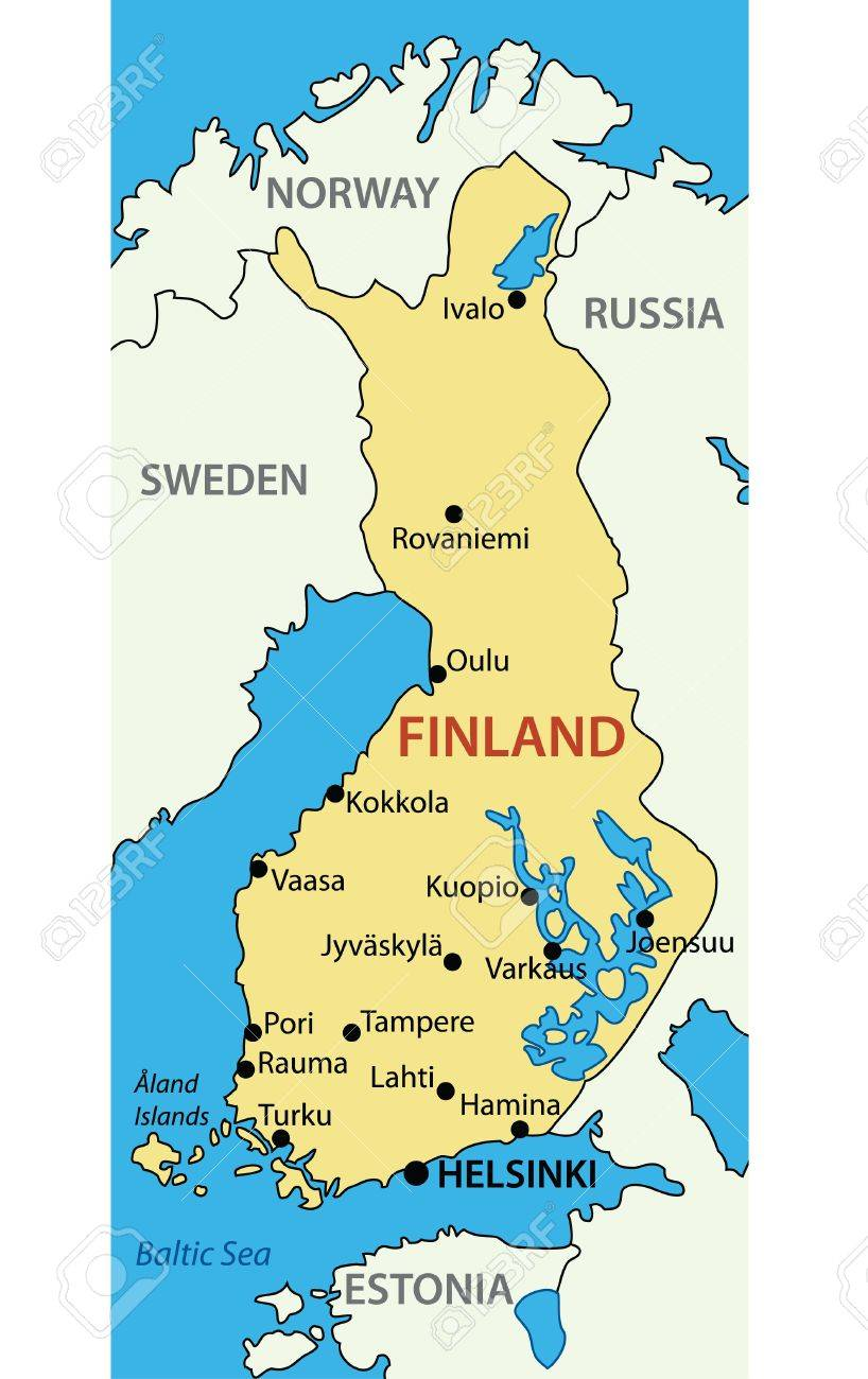 Republic Of Finland Map Royalty Free Cliparts Vectors And Stock