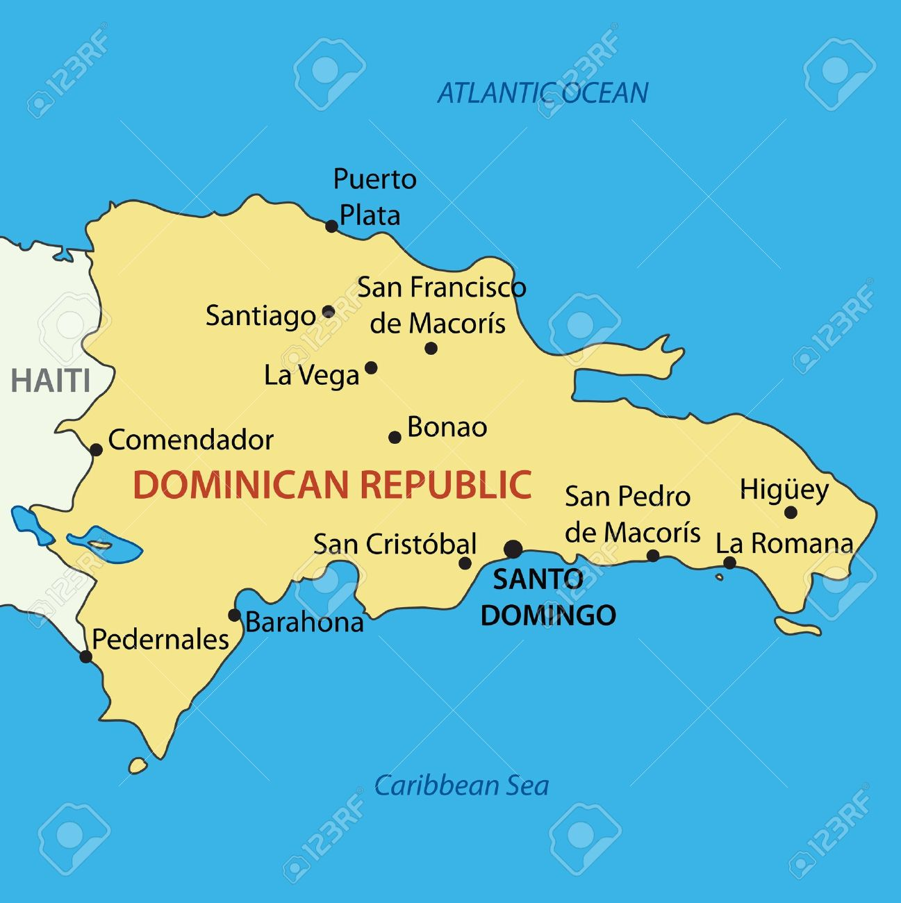 Dominican Republic Vector Map Royalty Free Cliparts Vectors - Dominican republic map