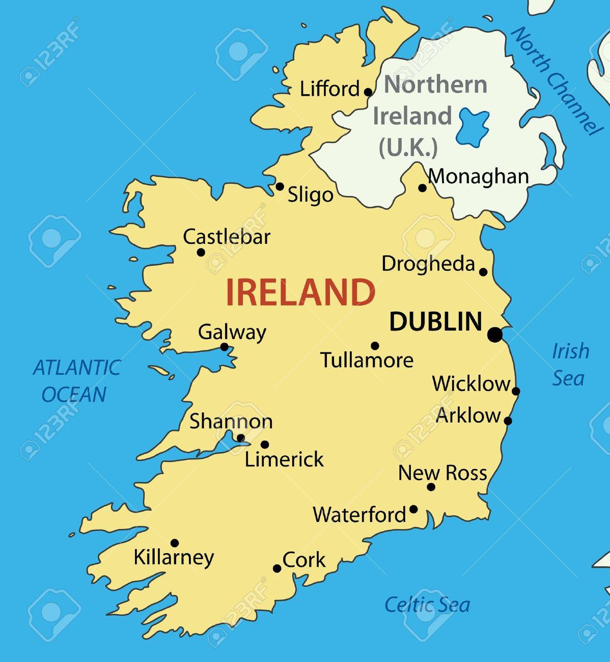irlanda mapa República De Irlanda   Mapa Ilustraciones Vectoriales, Clip Art  irlanda mapa