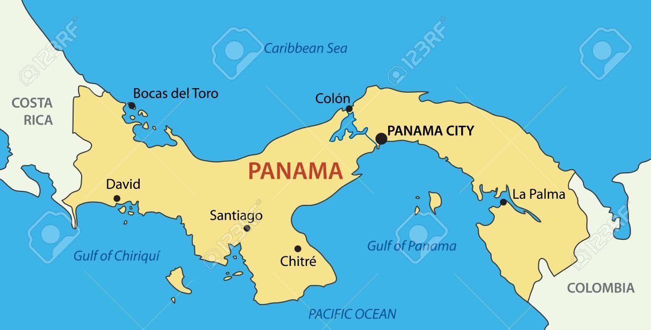 panama mapa República De Panamá   Mapa Ilustraciones Vectoriales, Clip Art  panama mapa