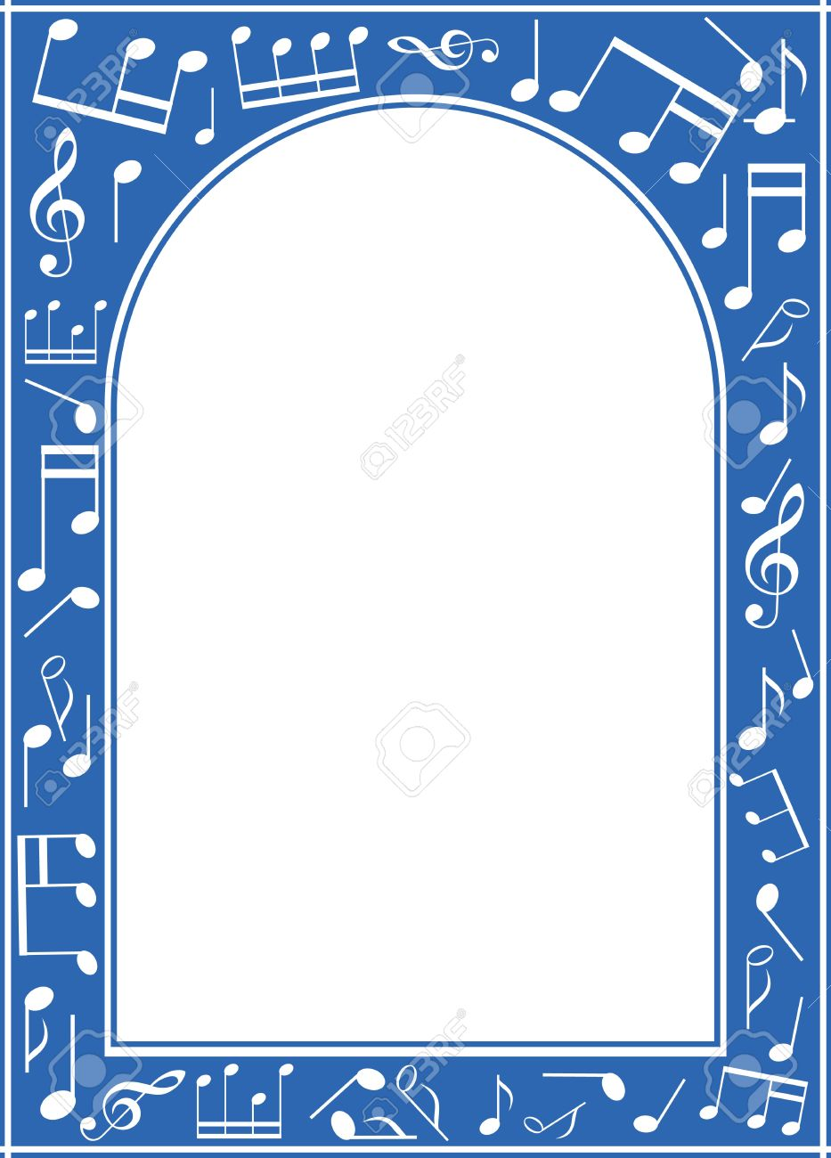Blue Music Arch Frame With White Center Royalty Free Cliparts ...