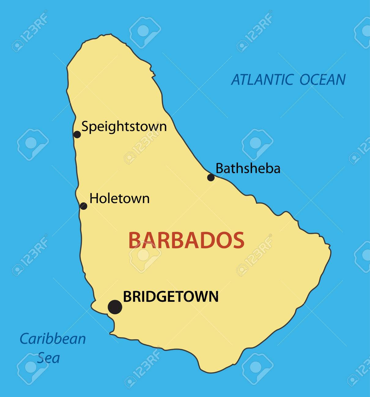 Barbados Map Royalty Free Cliparts Vectors And Stock Illustration