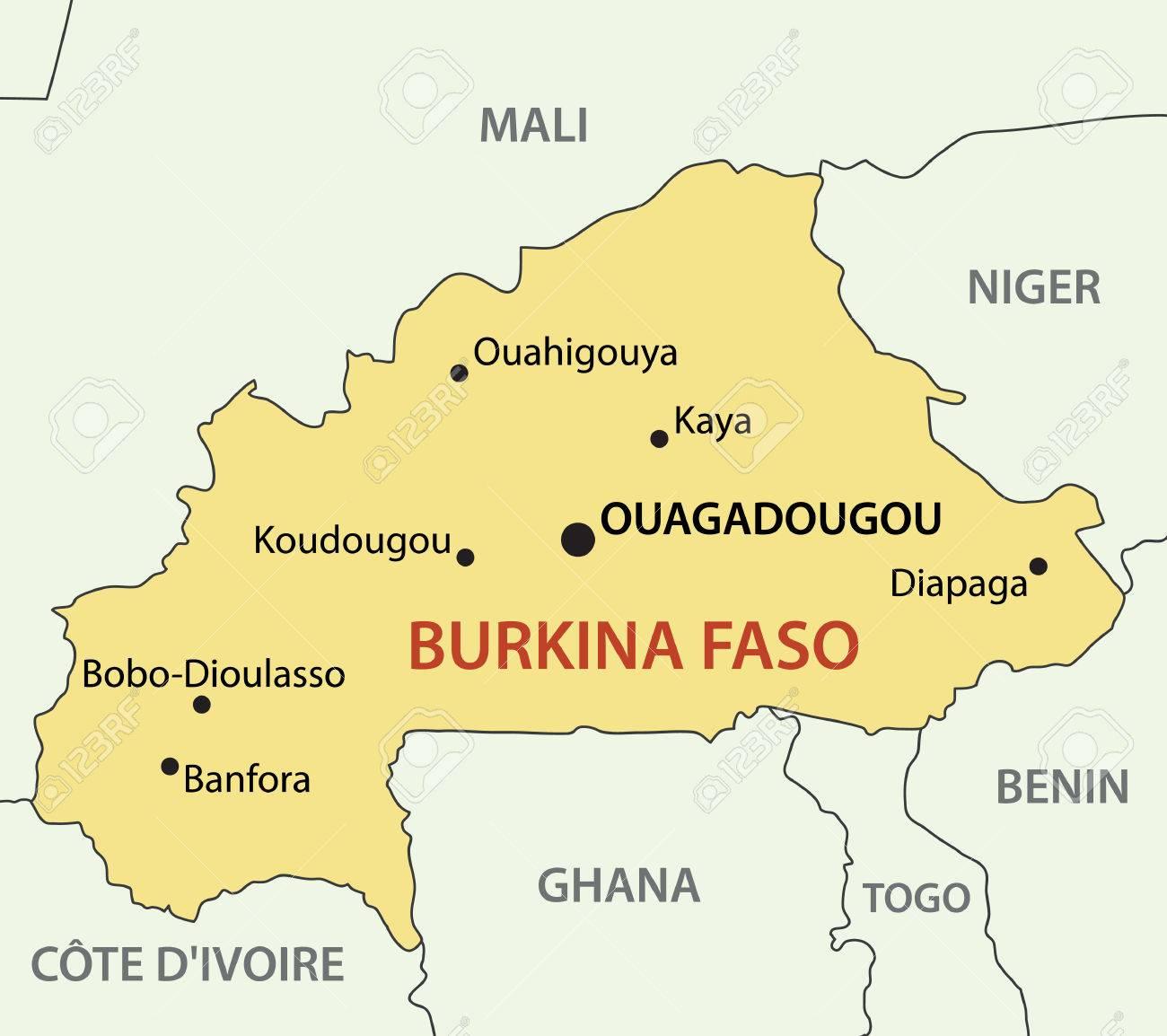 Burkina Faso Vector Map Royalty Free Cliparts Vectors And - Burkina faso map