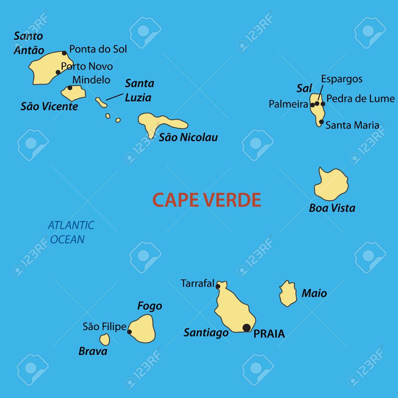 Cape Verde Map Map of Cape Verde   William RESENDE MORENO Cape Verde Map