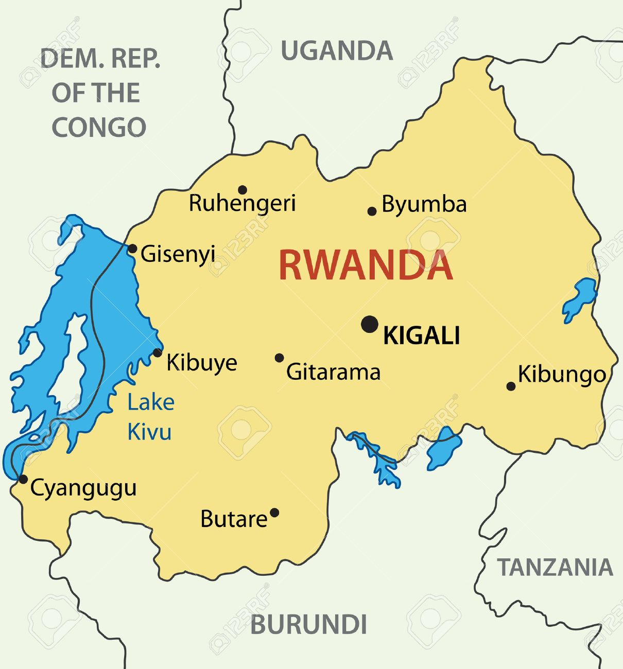 Risultati immagini per mappa ruanda