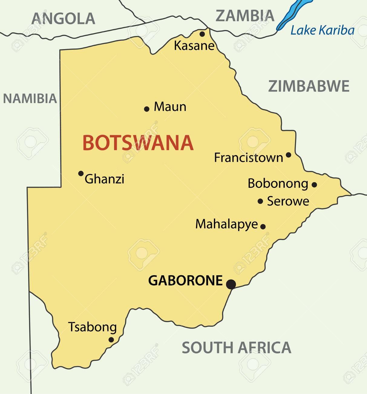 Výsledek obrázku pro botswana mapa