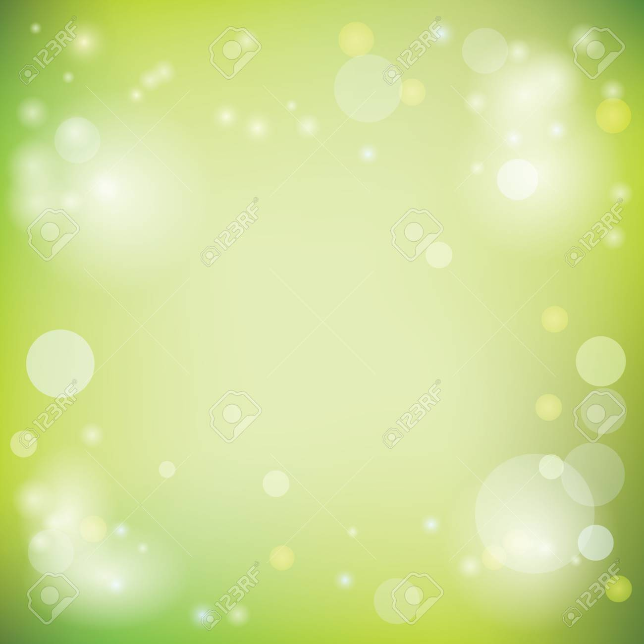 Light Green Vector Background With Lights Royalty Free Cliparts