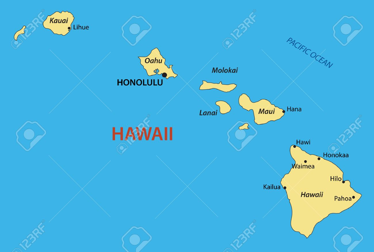 Hawaii Map Royalty Free Cliparts, Vectors, And Stock Illustration