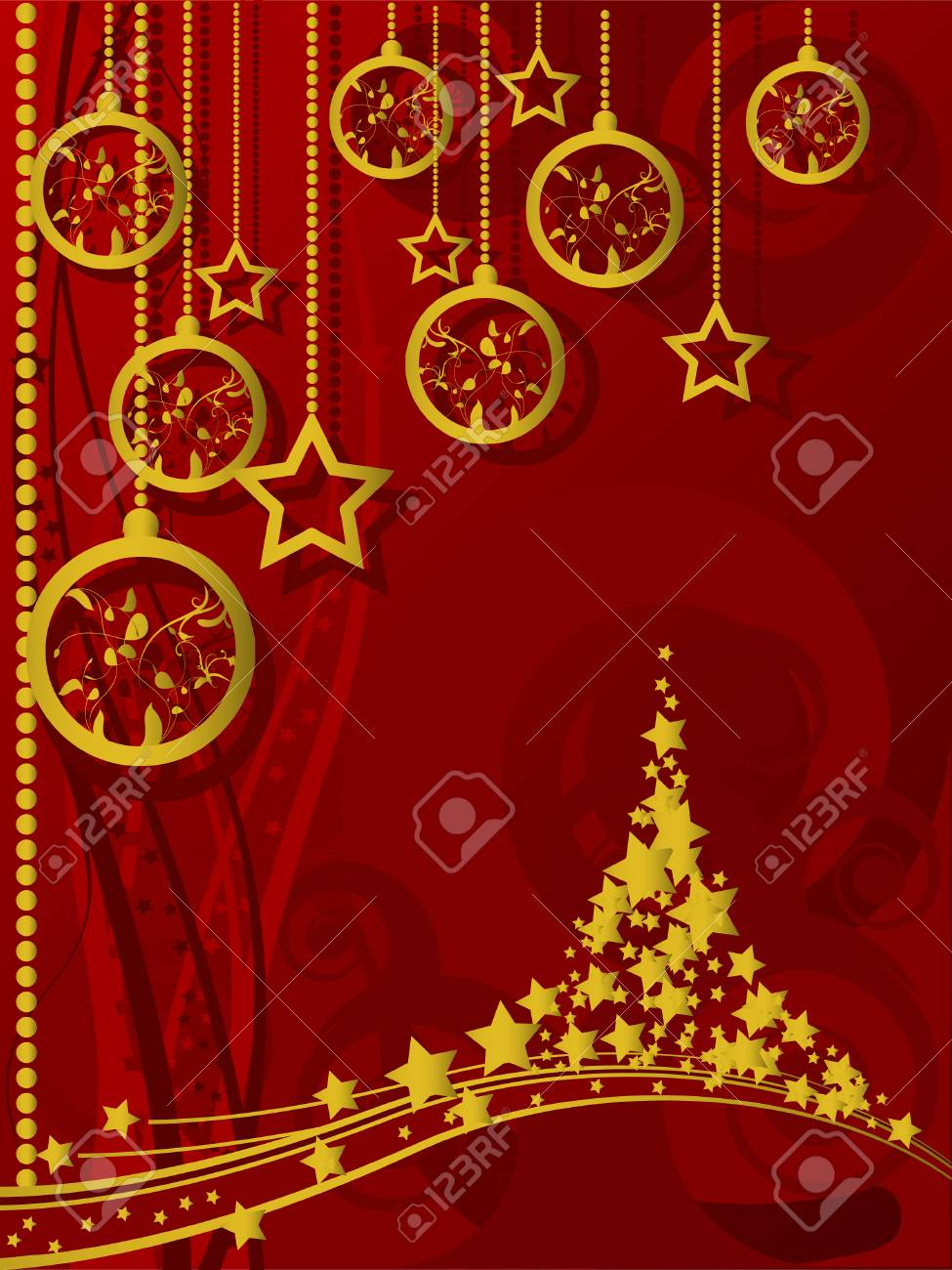 Merry Christmas and Happy New Year Stock Vector - 5300578
