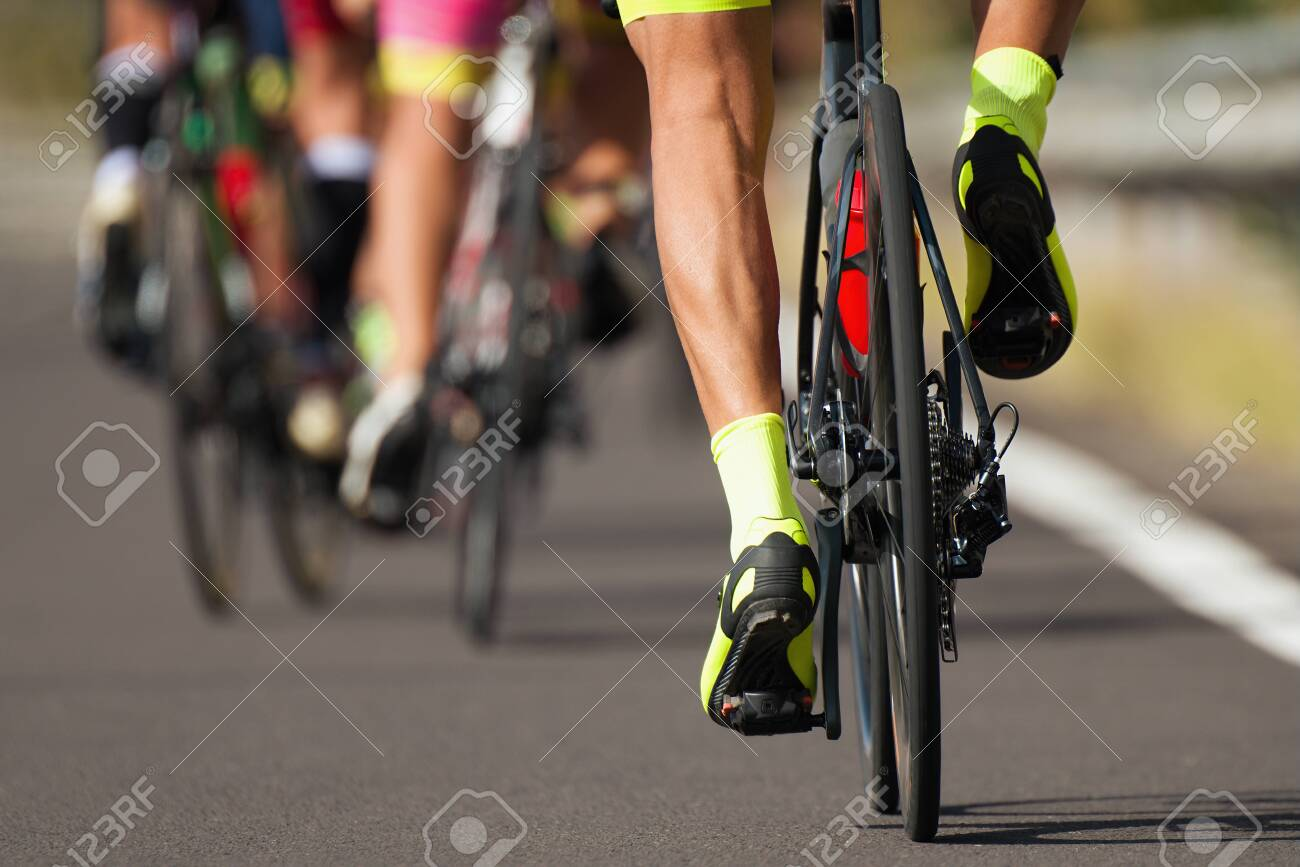 Group of cyclist at professional race, cyclists in a road race stage - 149848831