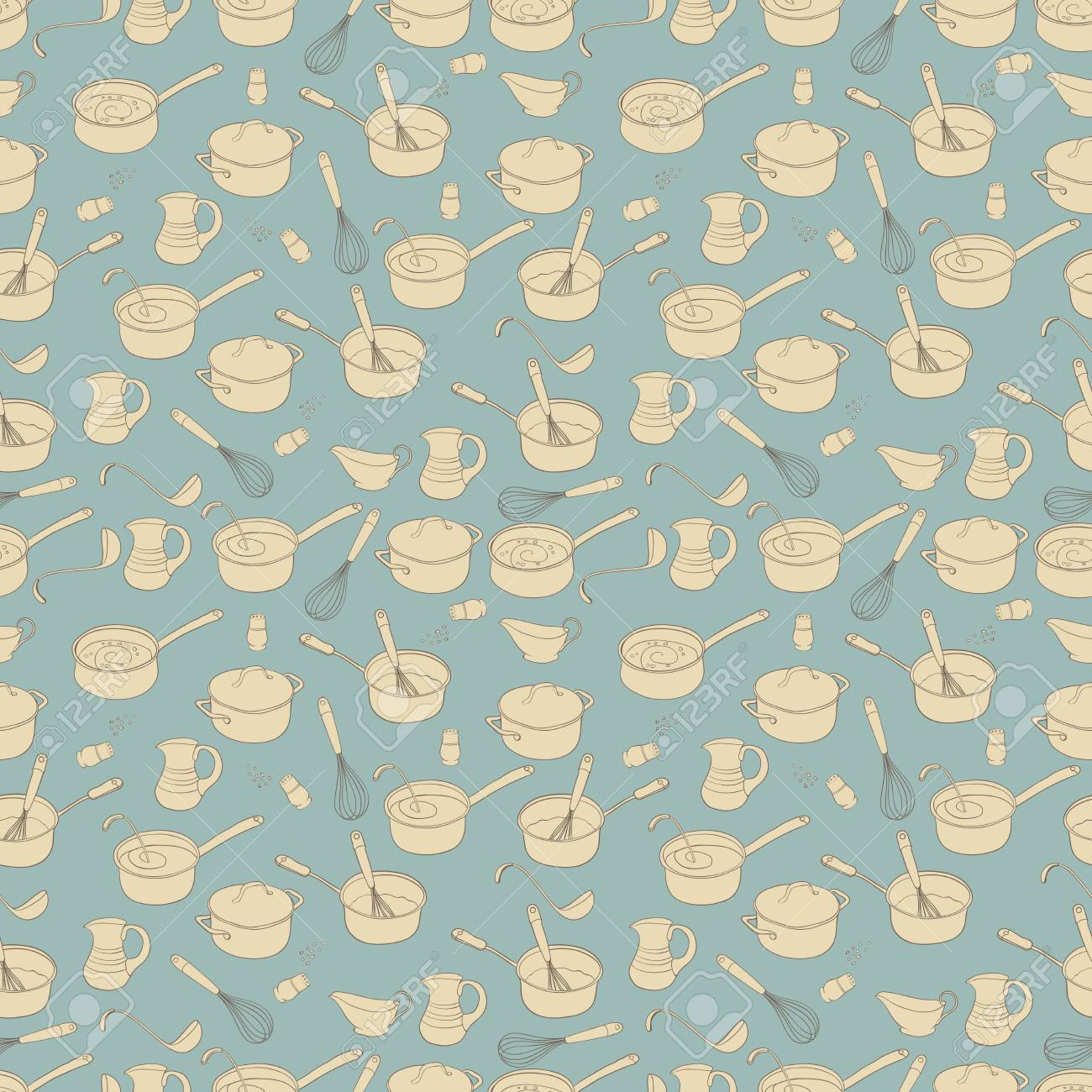 Kitchen House Design Seamless Background Texture Pattern Royalty ...