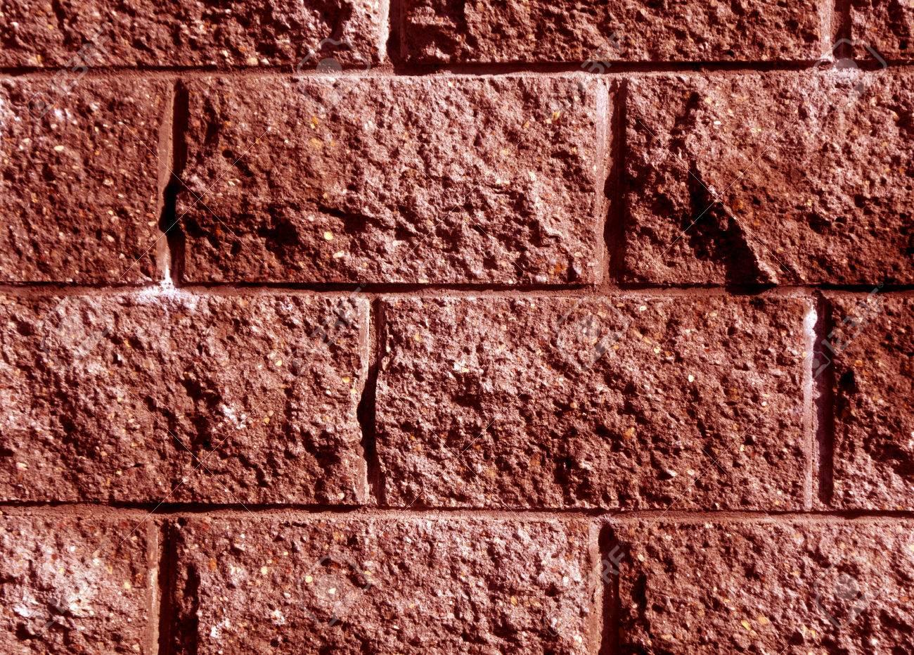 Modele De Mur De Brique Stylisee De Couleur Rouge Abstrait Et