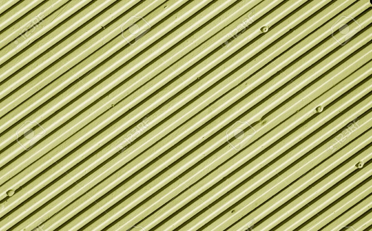 Metal plate wall in yellow tone. Abstract architectural background and texture for design. - 148027905