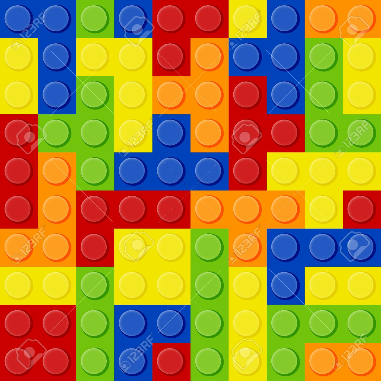 Seamless Pattern Of The Elements Of Tetris In The Form Of Lego ...