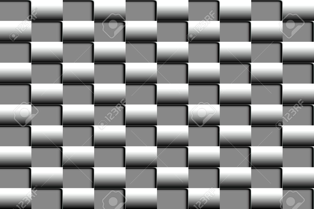 Vector Volume Of Abstract Seamless Pattern In The Form Of A Checkerboard In Shades Of Gray For Design Of Web Banners And Promotional Leaflets