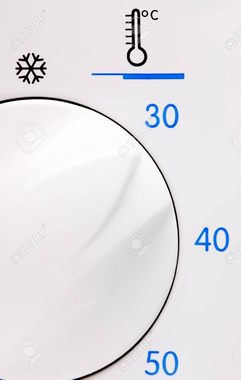 Température Machine À Laver bouton de température sur une machine à laver