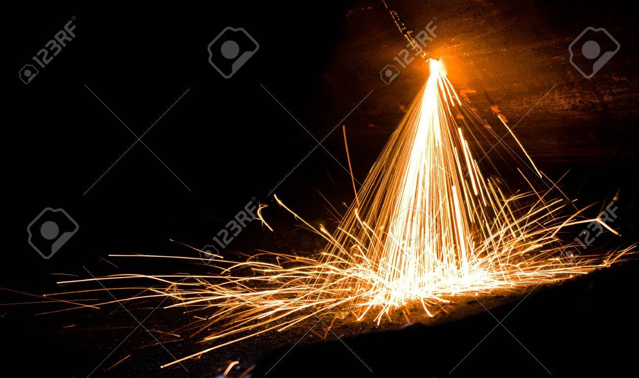 Sparks from welding of metal - 8876339