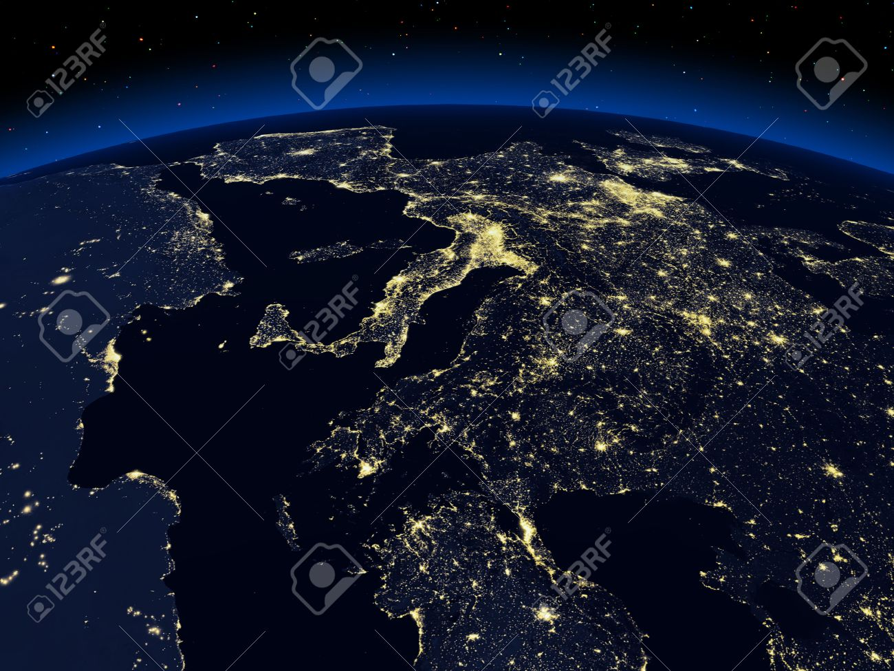 The view of a earth night cities from space stock photo picture the view of a earth night cities from space stock photo 24460961 voltagebd Image collections