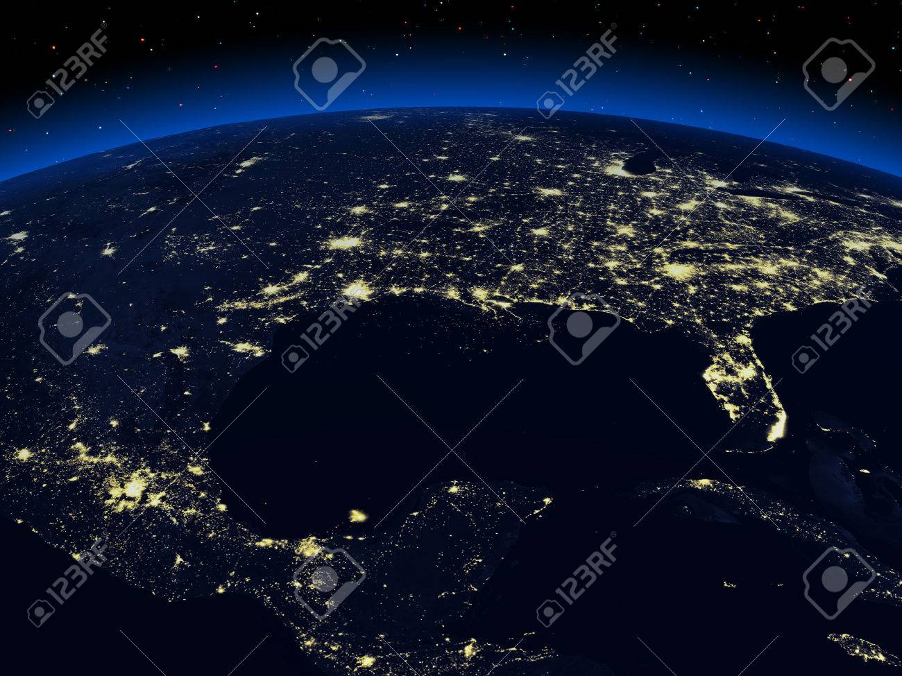 The view of a earth night cities from space stock photo picture the view of a earth night cities from space stock photo 24460962 voltagebd Image collections