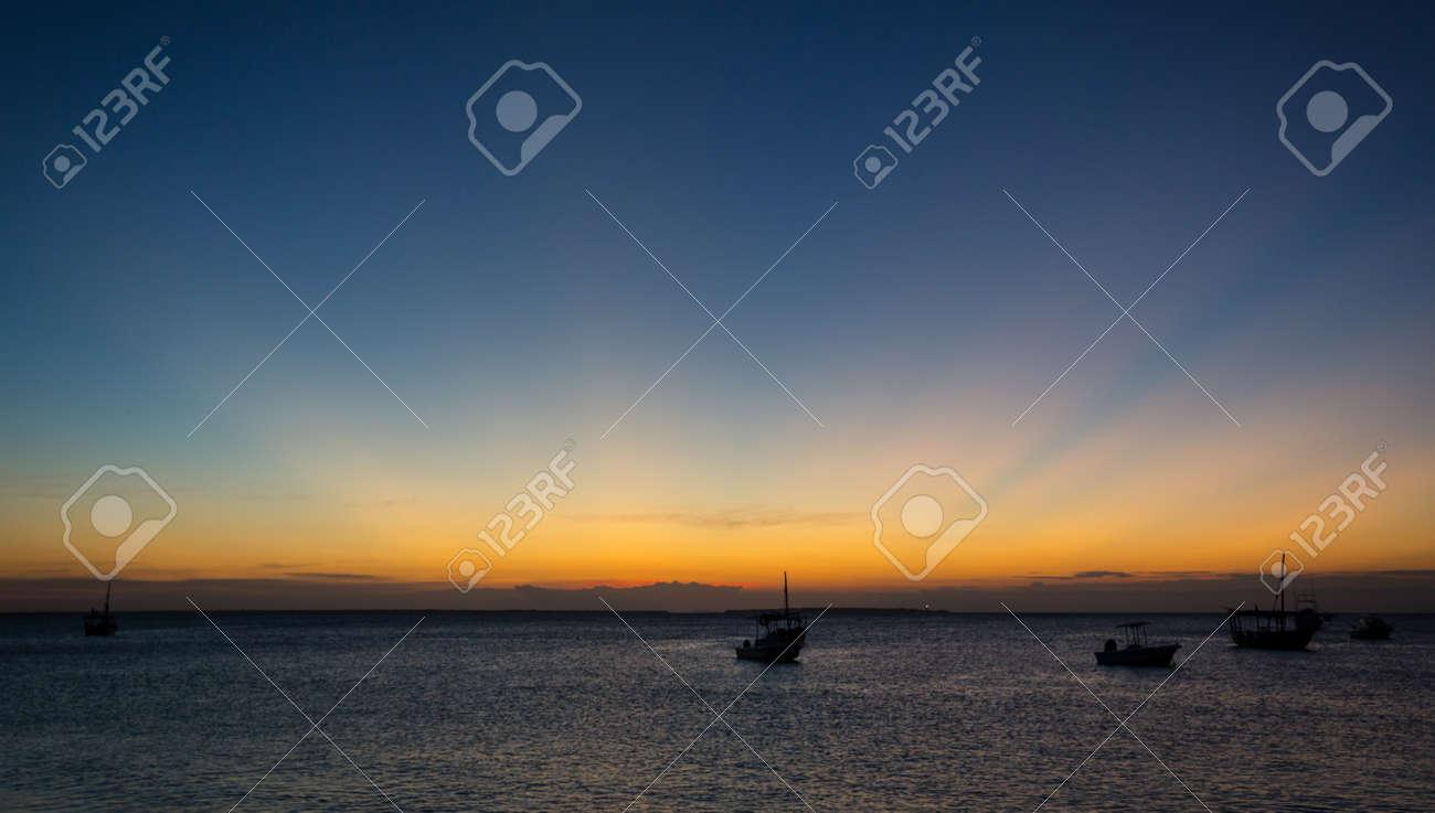 evening scene on sea after sunset - 121492650