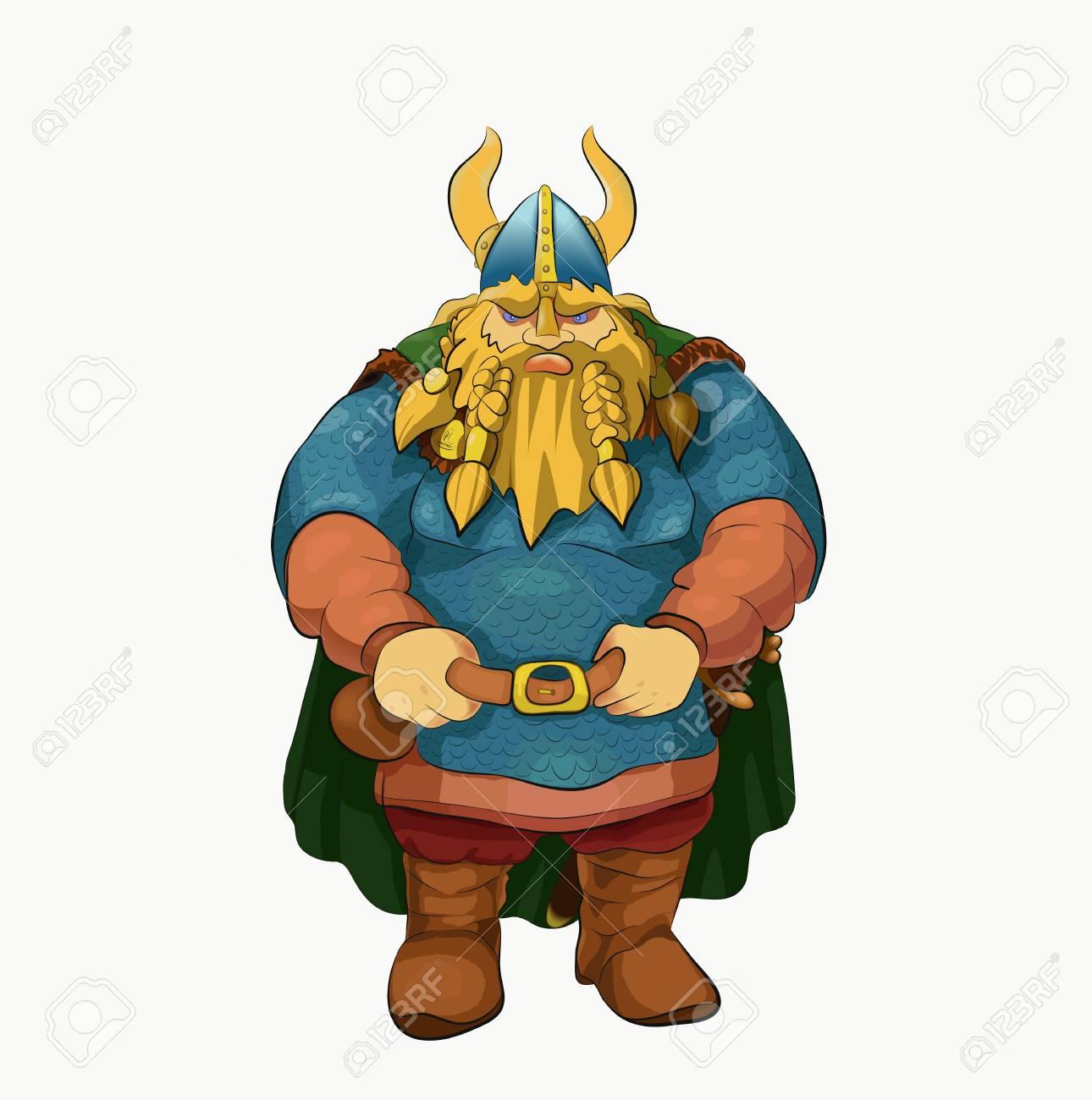 Viking Warriors Dressed In Raincoat