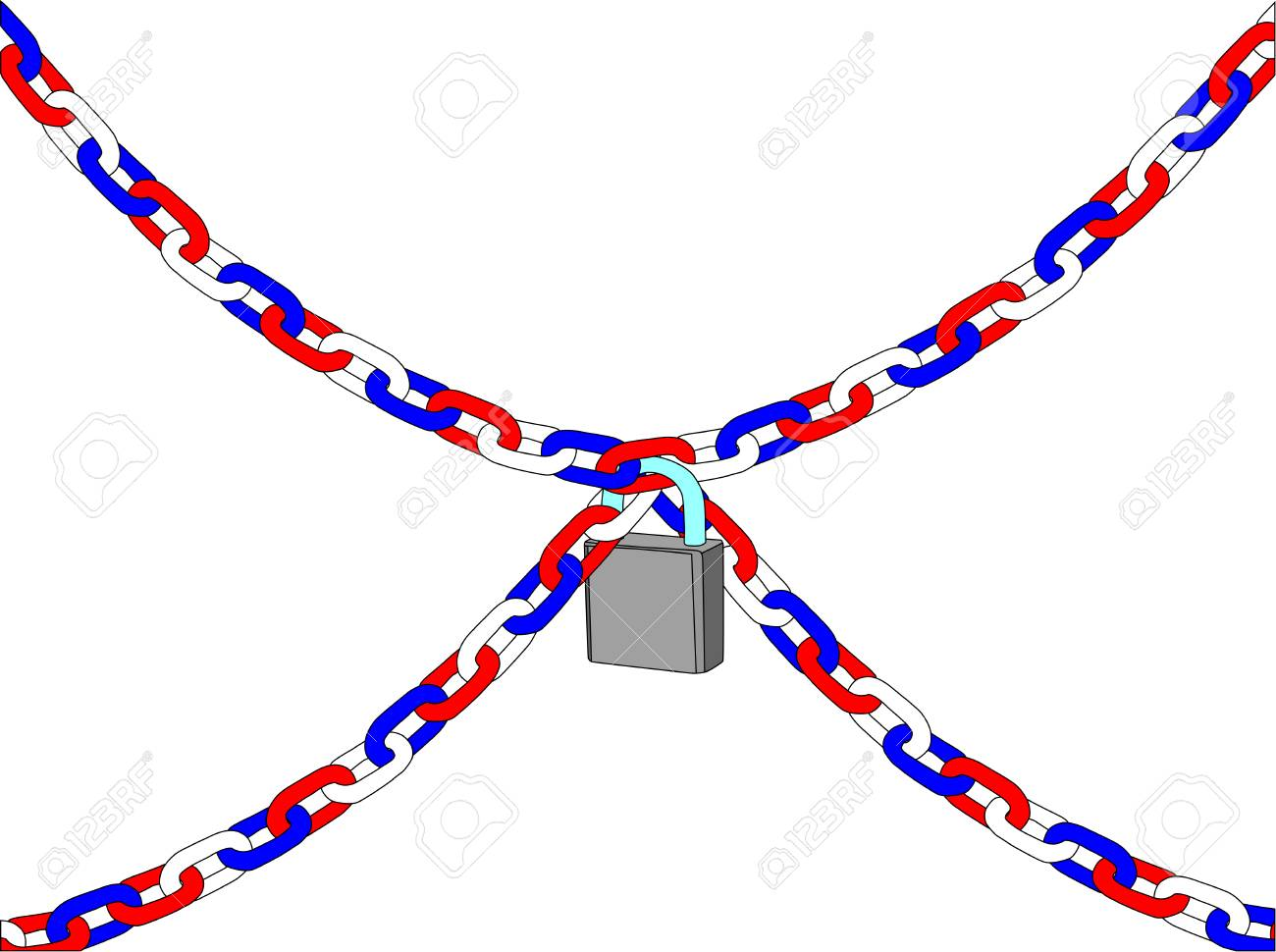 vector - chain with padlock isolated on white background Stock Vector - 4921125