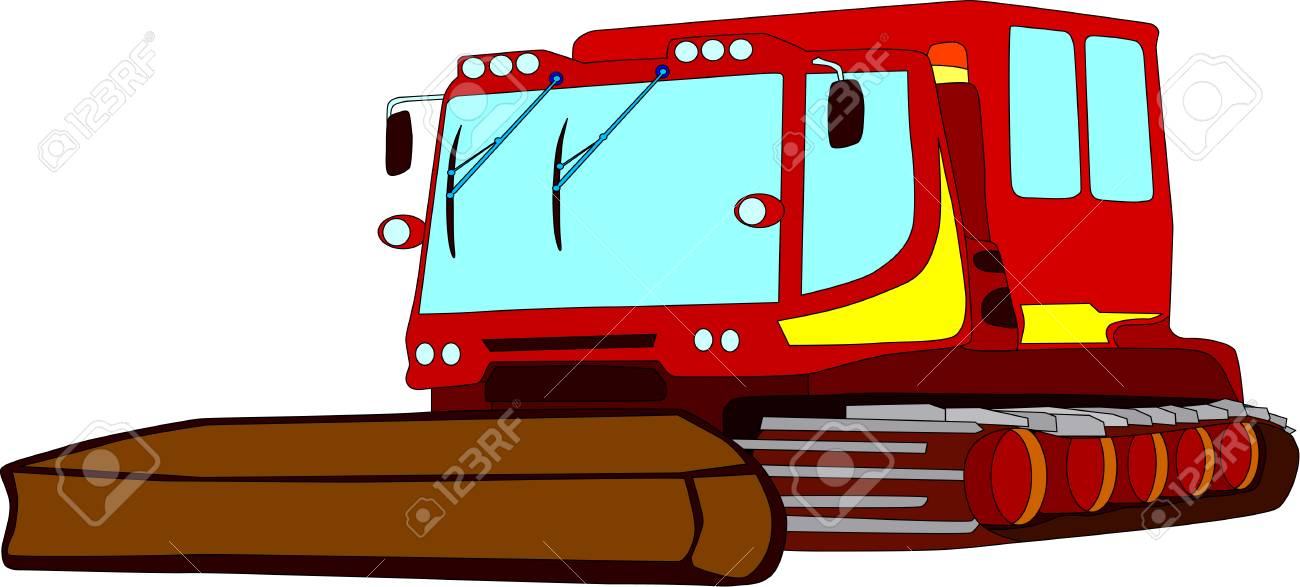 vector - snowcat isolated on background Stock Vector - 4921169
