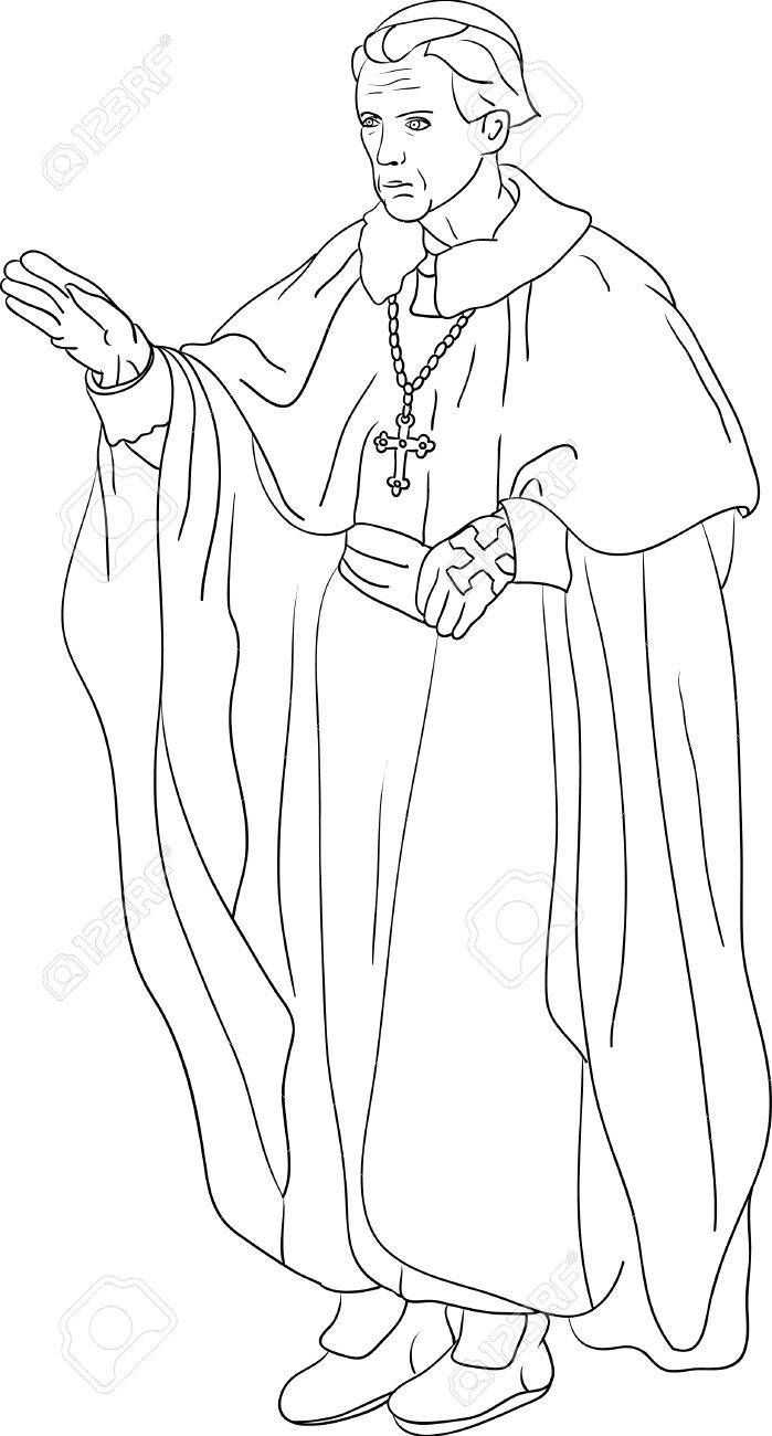 Priest Cardinal isolated on background Stock Vector - 6439432