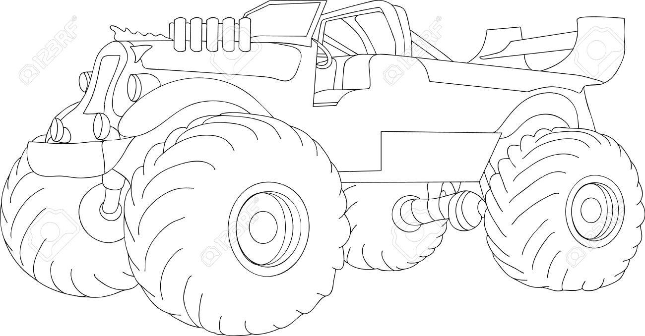monster truck isolated on background Stock Vector - 6631779