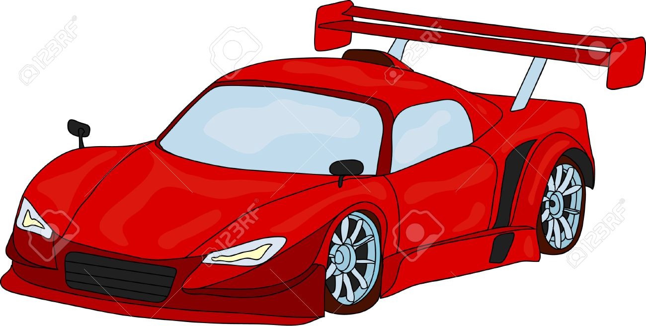 Sport Car Isolated On Background Royalty Free Cliparts Vectors
