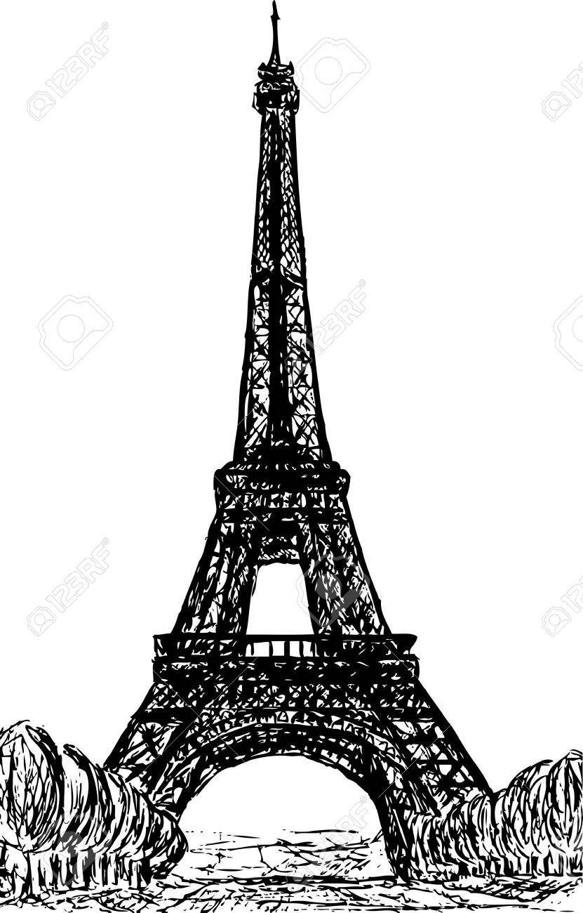 Eifel Tower in Paris, Europe Stock Vector - 7098191