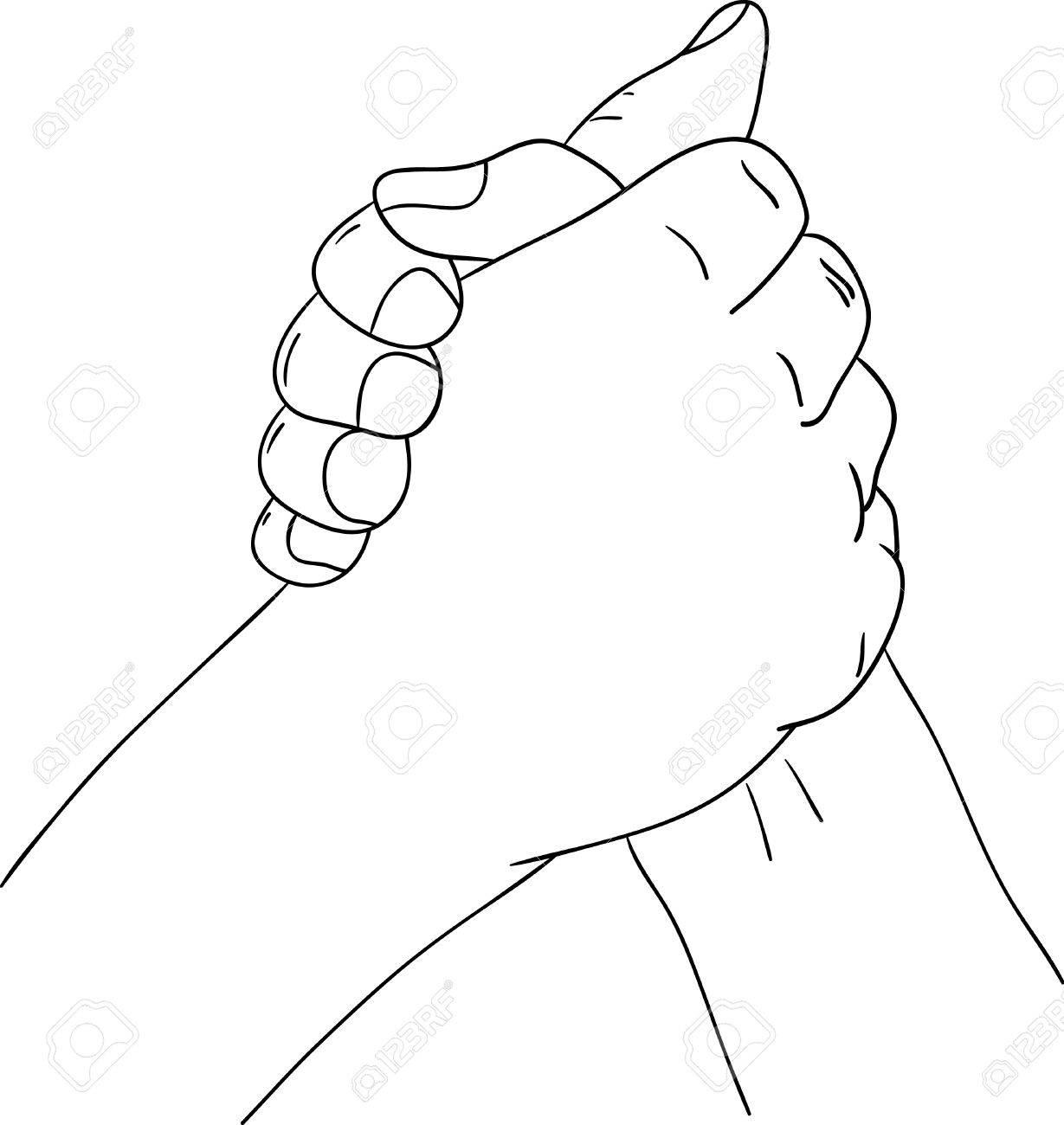 hand holding , arm wrestling - sport Stock Vector - 8022811