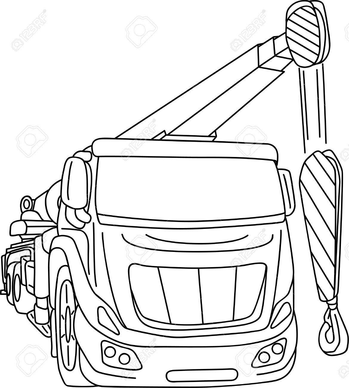 Camión Grúa Móvil Aislado En Segundo Plano Ilustraciones Vectoriales ...