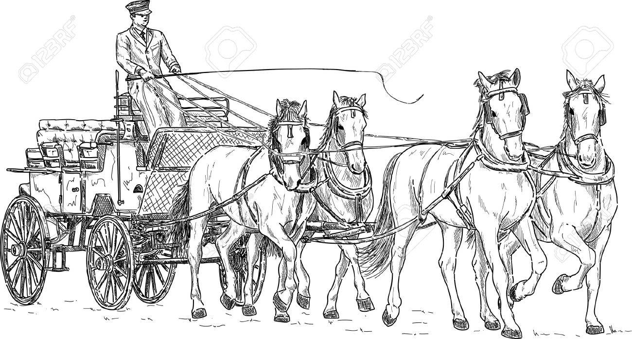Horse carriage hand draw isolated on background royalty free horse carriage hand draw isolated on background stock vector 16940263 ccuart Choice Image