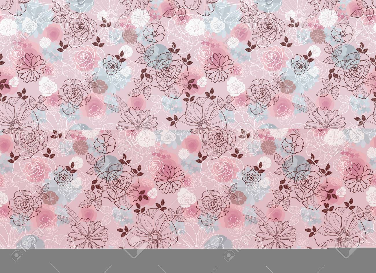 Vector illustration of seamless floral gentle pattern - 88524094