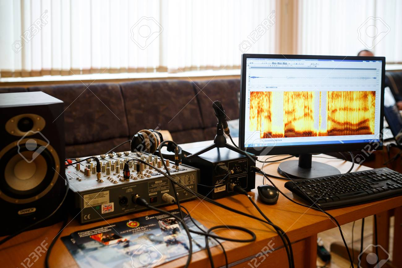 Minsk Belarus May 1 2017 Equipment For Acoustic Voice Analysis Stock Photo Picture And Royalty Free Image Image 101834900