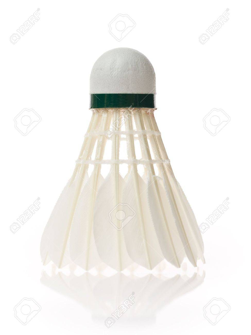 One shuttlecock isolated on the white background Stock Photo - 6918434
