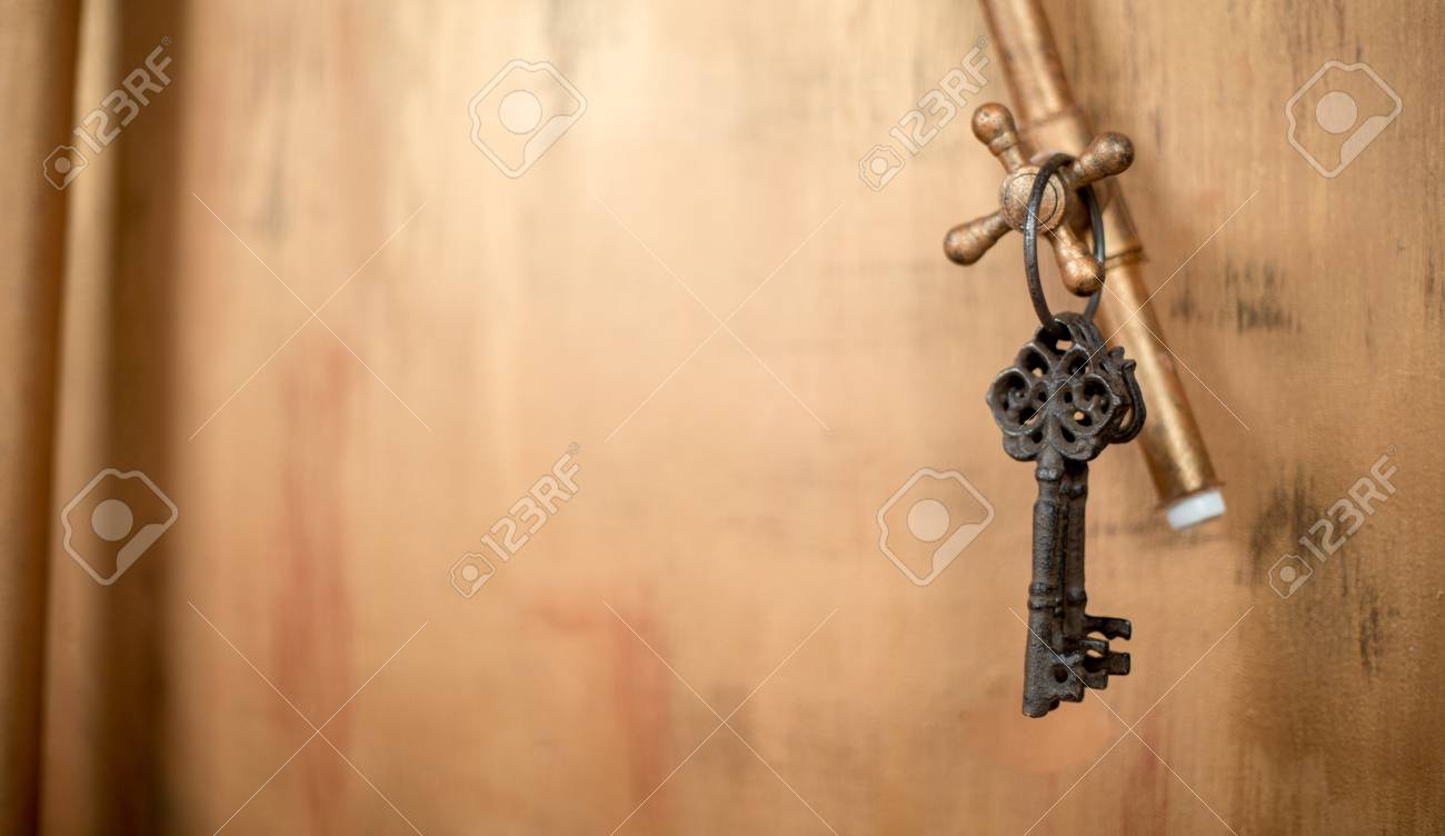 Vintage Keys On A Faucet Stock Photo, Picture And Royalty Free Image ...