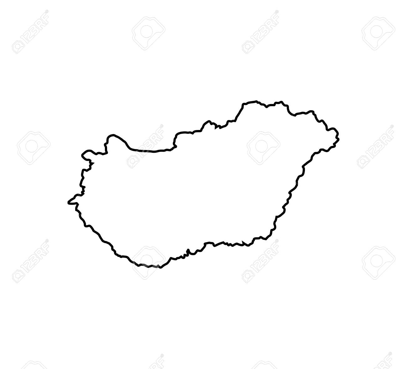 Picture of: Hungary Map On White Background Vector Royalty Free Cliparts Vectors And Stock Illustration Image 134557988